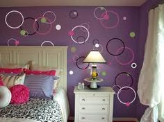 Circle painting pattern.  Love this color combo!
