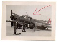 Foto Flugzeug Plane JU-88 Bomber Kennung KF + IT Crash Bruch Technik Pilot #196 | eBay