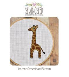 Baby Giraffe Cross Stitch Pattern Instant Download door Sewingseed