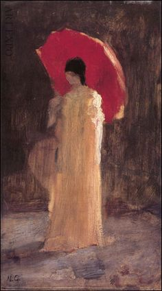 Woman with red umbrella_Nikolaos Gyzis Classical Period, Classical Art, Art And Illustration, Greek Paintings, Hellenistic Period, Red Umbrella, Social Art, Minoan, 10 Picture