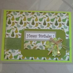 Lime green Happy birthday card