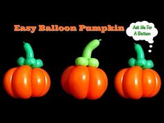 How to make a pumpkin with 2 balloons! This halloween or fall twisted balloon is perfect for fast easy line work. You will need 1 x 360 Sempertex balloon and. Balloon Centerpieces Wedding, Masquerade Centerpieces, Balloon Decorations, Balloon Ideas, Balloon Columns, Balloon Arch, Easy Balloon Animals, Princess Balloons, How To Make Balloon