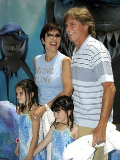 """Bruce Jenner and wife Kris arrive at the premiere of """"Finding Nemo"""" with their daughters, Kendall and Kylie, on May 18, 2003, in Hollywood, Calif."""