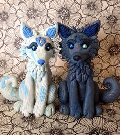 A Wolfish Wedding  Wolf Wedding Cake Topper  by PatchRabbit, $140.00