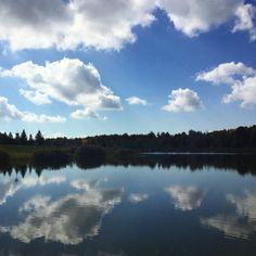 Superbe aujourd'hui au parc. #landscape #fall #ktfall #seenonmyrun #sky #automne #paysage #ciel
