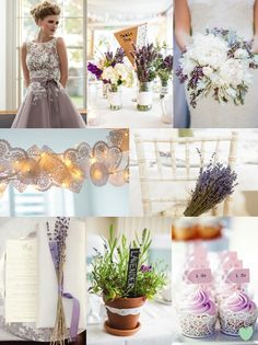 Lavender and Lace Wedding Styling Mood Board from The Wedding Community