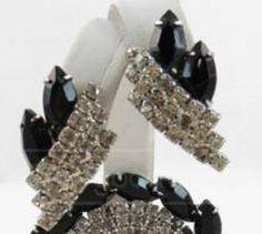 SALE 1930s1940s vintage black rhinestones by SkyAccessoryBoutique, $28.00