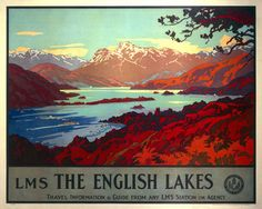 'The English Lakes', LMS poster, 1923-1947. by Welsh at Science and Society Picture Library