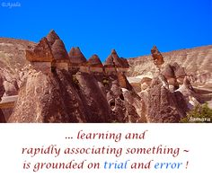 ... #learning and rapidly #associating something ~ is grounded on #trial and #error ! ( #Samara )