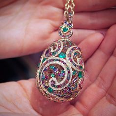 How beautiful is this multi gem Faberge egg?