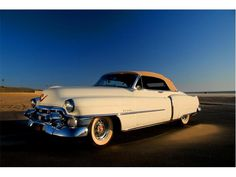 A great two-tone 1953 Cadillac convertible. #vintage #1950s #cars