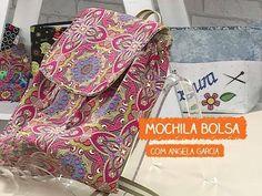 """Mochila de tecido passo a passo """"Floral"""". DIY. Fabric fackpack bag. Make a fabric backpack bag - YouTube"""