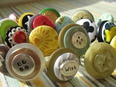 button rings by eloise & marge, via Flickr