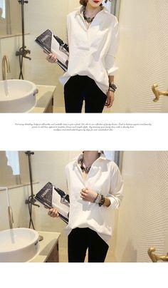 ★ NANING9(ナンニング)タキシード風 プルオーバールーズシャツ カシュクール バックボタン ブラウス 綿100% コットン