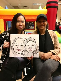 A recent caricature drawn from Niloo the Caricature Artist at an event yesterday. Caricature Artist, Caricature Drawing, Favours, Portrait, Friends, Illustration, Party, Gifts, Amigos