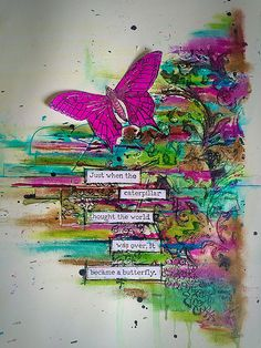 Dylusions sprays distress crayons and Dina Wakley stamps..… | Flickr