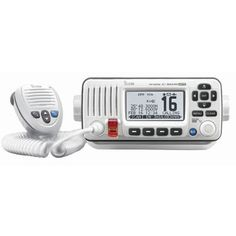 Icom M424G Fixed Mount VHF Marine Transceiver w/Built-In GPS - Super White