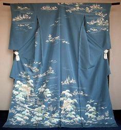 Kimono Eemonya   Rakuten Global Market: Hand-painted Yuzen houmongi