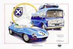Ecurie Ecosse Le Mans 24 Hueres 1957 Jaguar D-Type 1956 Dugan Art