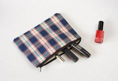 Handmade Pouch  Cosmetic bag  Pencil Case  Zipper by ColorfulHouse, $14.00