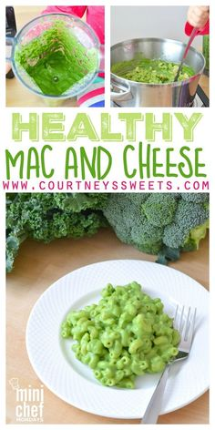 Mac and Cheese Healthy Mac and Cheese Recipe GREEN! Delicious vegetarian kid friendly recipe using kale and broccoli!Healthy Mac and Cheese Recipe GREEN! Delicious vegetarian kid friendly recipe using kale and broccoli! Healthy Mac N Cheese Recipe, Cheese Recipes, Baby Food Recipes, Healthy Recipes, Kid Recipes, Cheese Snacks, Baby Mac And Cheese Recipe, Vegetarian Kids Recipes, Drink Recipes