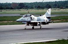 A Fighter Squadron 43 (VF-43) Douglas TA-4J Skyhawk takes off from NAS Oceana, Va.