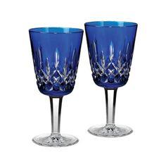 Lismore cobalt goblets. I love them!