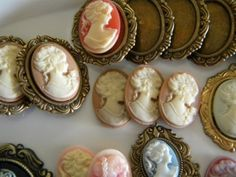 charmingages:    vintage23elfride:    How to make a cameo brooch… :)
