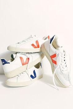 Veja Sneakers at Free People, Orange, EU 37 Veja Sneakers, Cute Sneakers, Leather Sneakers, Fall Shoes, Summer Shoes, Veja V 10, Free Clothes, Me Too Shoes, Women's Shoes