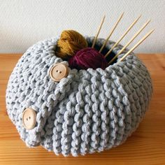 Autumn/Winter Trends 2015 - Knitting Patterns for Home - Piilo Basket knitting pattern by Hanna tjukanov - LoveKnitting blog