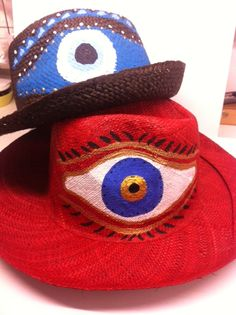 hand painted hats from madagascar