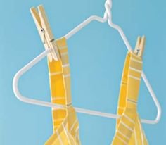 Dress hung with clothespins     LOVE this idea!
