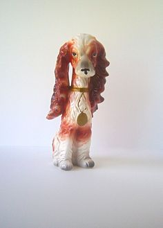 Spaniel Breed Dog Figurine Lady Style with Tons of by nyssaink, $22.00
