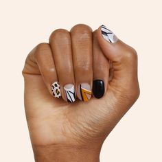 Gel Manicure Designs, Gel Manicure At Home, Nail Art Designs, Gel Nails, Pam Grier, Foxy Brown, Stick On Nails, Nail Ring, Brown Nails