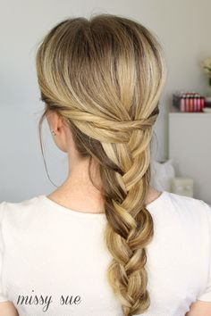 one braid with twists missysue blog Embellished French Braid with Twists