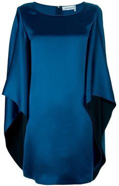 NEW SEASON 21012-13   Y.S.L  Saint Laurent   Cape Style Shift Dress   Moon BLue  dressmesweetiedarling