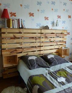autre exemple tête de lit palette                                                                                                                                                     Plus