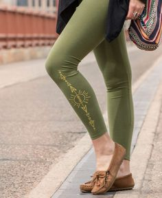f38ec142c5e3ae Love & Light Leggings in Organic Cotton Tribal Leggings, Yoga Leggings, Yoga  Pants,