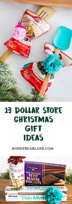 13 Dollar Store Gift Ideas for Christmas - Honeybear Lane Christmas is the time for giving.but it can get expensive with everyone we want to give to! Check out these dollar store gift ideas! Office Christmas Gifts, Cheap Christmas Gifts, Dollar Store Christmas, Christmas Gifts For Friends, Homemade Christmas Gifts, Homemade Gifts, Handmade Christmas, Holiday Gifts, Diy Gifts