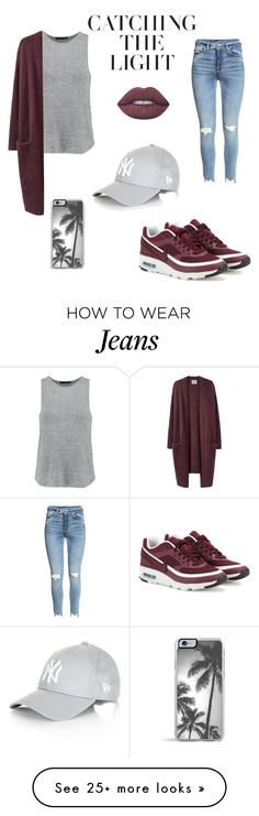 """""""""""Winter is coming"""" 2 #nike #jeans #red #airmax #winter #fall #girl #gray #school #fabulous #beautiful #simple"""" by stellaella29 on Polyvore featuring NIKE, rag & bone, Topshop, Acne Studios, Zero Gravity and Lime Crime"""