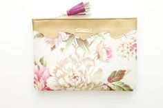 SUMMER 3/ Leather & Cotton floral clutch  Ready by DDSLLGirlsStore, $44.00