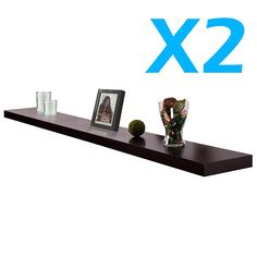 Lot of 2 X New Venice Black Floating Wall Shelf Black Set Kit * Check this awesome image : Floating Shelves Floating Wall Shelves, Rack Shelf, Hanging Pictures, 2 Set, Home Kitchens, Bookends, Venice, Black, Home Decor