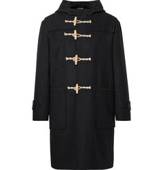 <a href='http://www.mrporter.com/mens/Designers/Margaret_Howell'>Margaret Howell</a>'s naval-inspired duffle coat is cut from robust Melton wool - a dense fabric favoured for its hard-wearing, weather-resistant properties. Designed with a hood and throat latch for extra protection from the elements, it's finished with traditional toggle fastenings and large patch pockets.