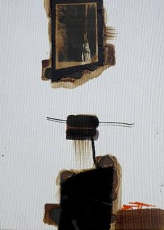 "Saatchi Art Artist Mark Fearn; Painting, ""Abstract in Perspective 3."" #art   Abstract in Perspective 3.  Abstract on canvas board  10 x 14 inches  inspired by Robert Motherwell, Ad Reinhardt and Pierre Soulages  https://www.fearnfineart.moonfruit.com https://www.saatchiart.com/account/artworks/58313"