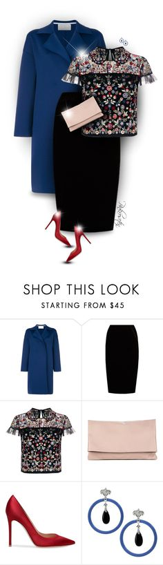 """""""Red Pumps"""" by pinkroseten ❤ liked on Polyvore featuring Harris Wharf London, Jupe By Jackie, Needle & Thread, Sole Society and Dallas Prince"""