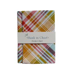 "The Angus pocket chief is 100% cotton and measures 25 x 25cm. It has been hand sewn, looks incredibly suave with a Hank in Chief Bow-Tie and comes with an illustrated ""how to wear"" card.Care: Gentle hand wash"