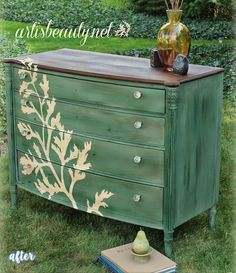green-dresser-fern-makeover