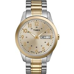 Timex Men's Dress Watch, Stainless-Steel Expansion Band - Walmart.com