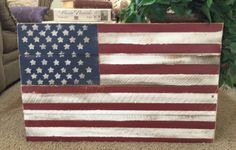 Fourth of July is right around the corner! Giant, hand painted, handcrafted & perfectly distressed rustic American Flag. Ready to be displayed on your front porch, in your backyard, at your holiday parties, in your garage, or on your living room wall! Each flag is almost 3ft long & 2ft wide. Each Flag will vary slightly as they are all hand-painted, so each flag will be slightly different but will look similar to the photo above  IMPORTANT SHIPPING NOTE: Depending on where you live, this…