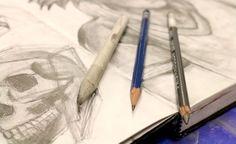 sketchbook with pencils